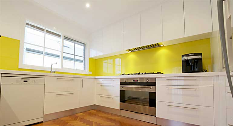 good morning to this kitchen we installed in camberwell the yellow
