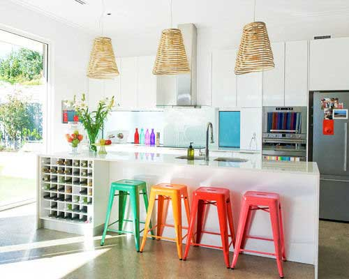 Rainbow Kitchen Stools