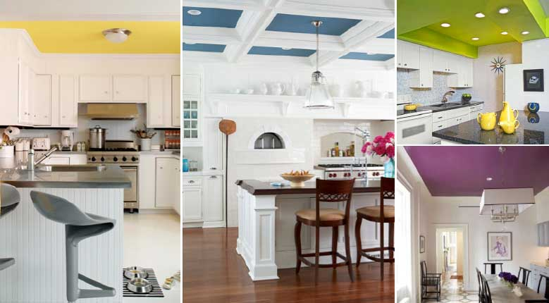 Colourful Kitchen Ceilings