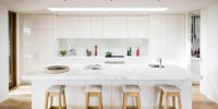 Modern white kitchen in Sorrento