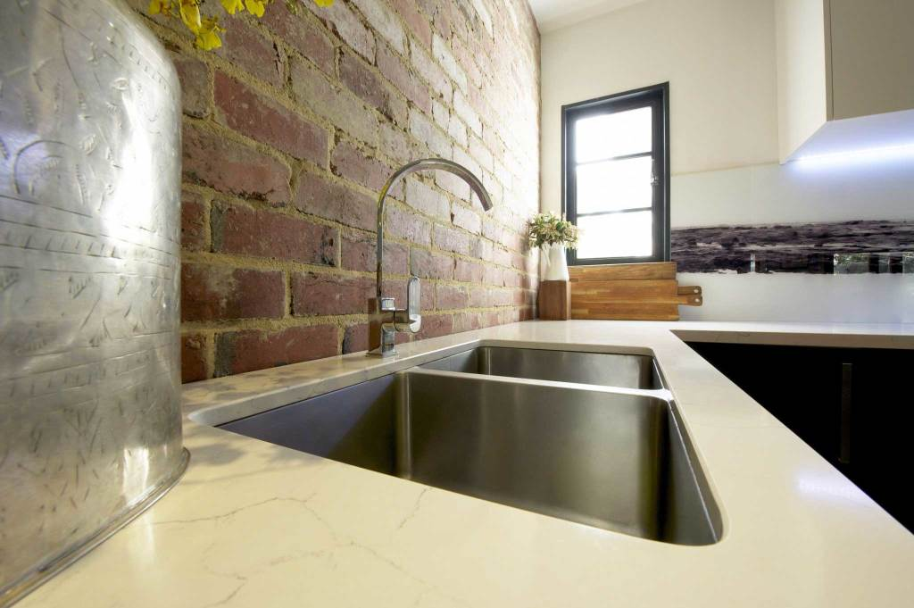 Contemporary Kitchen Renovation Undermount Double SInk