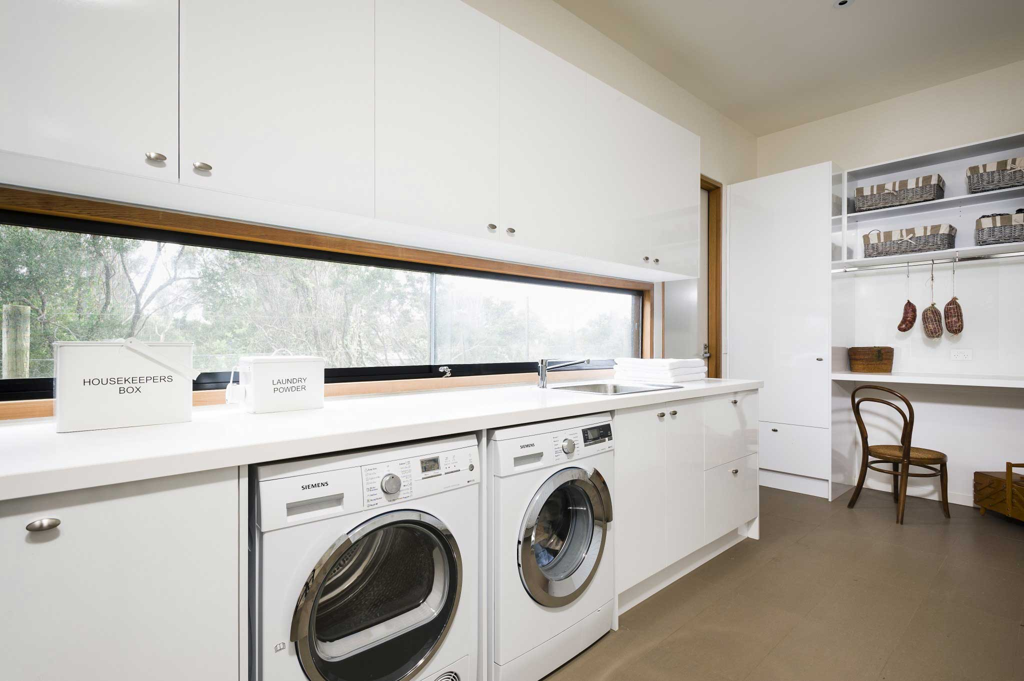 White Laundry Renovation Inspiration