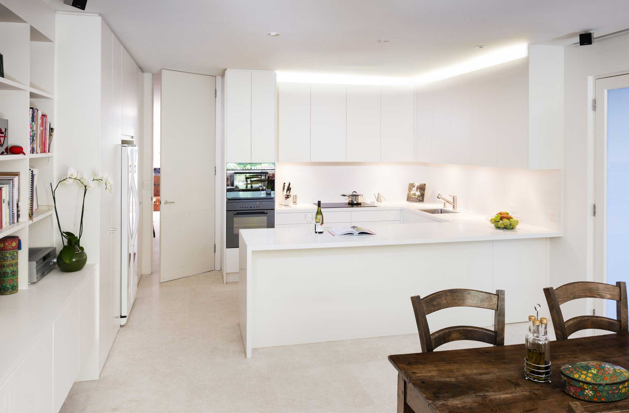 Modern White Kitchen in Toorak