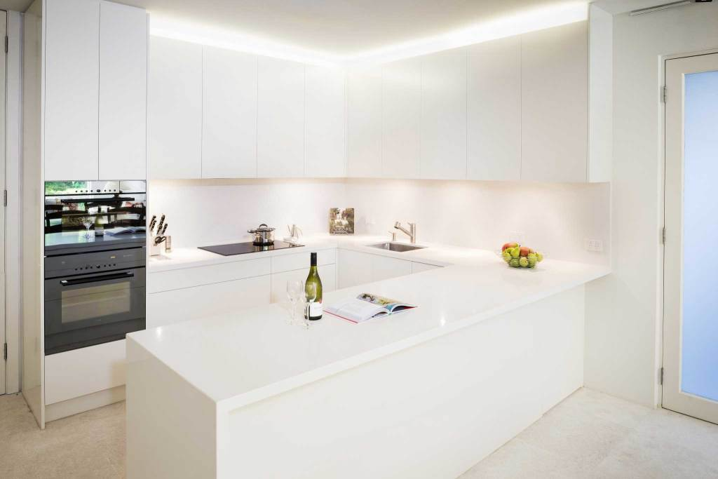 Modern White Kitchen Renovation in Toorak