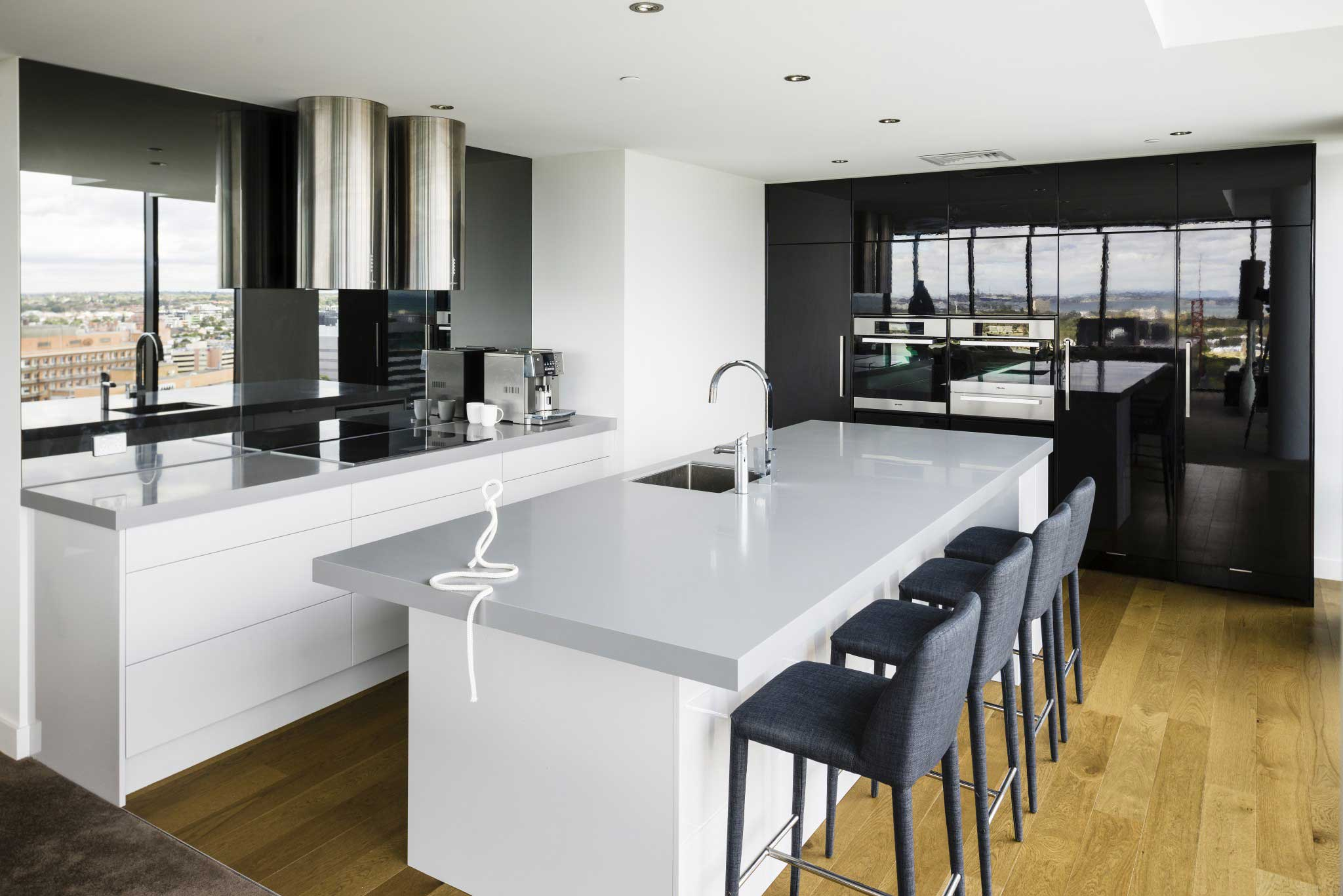 Modern Kitchen Renovation, Black and White