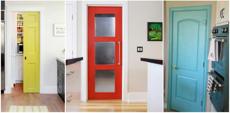 Colourful Kitchen Doors