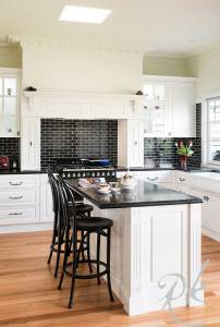 Black and White French Provincial Kitchen