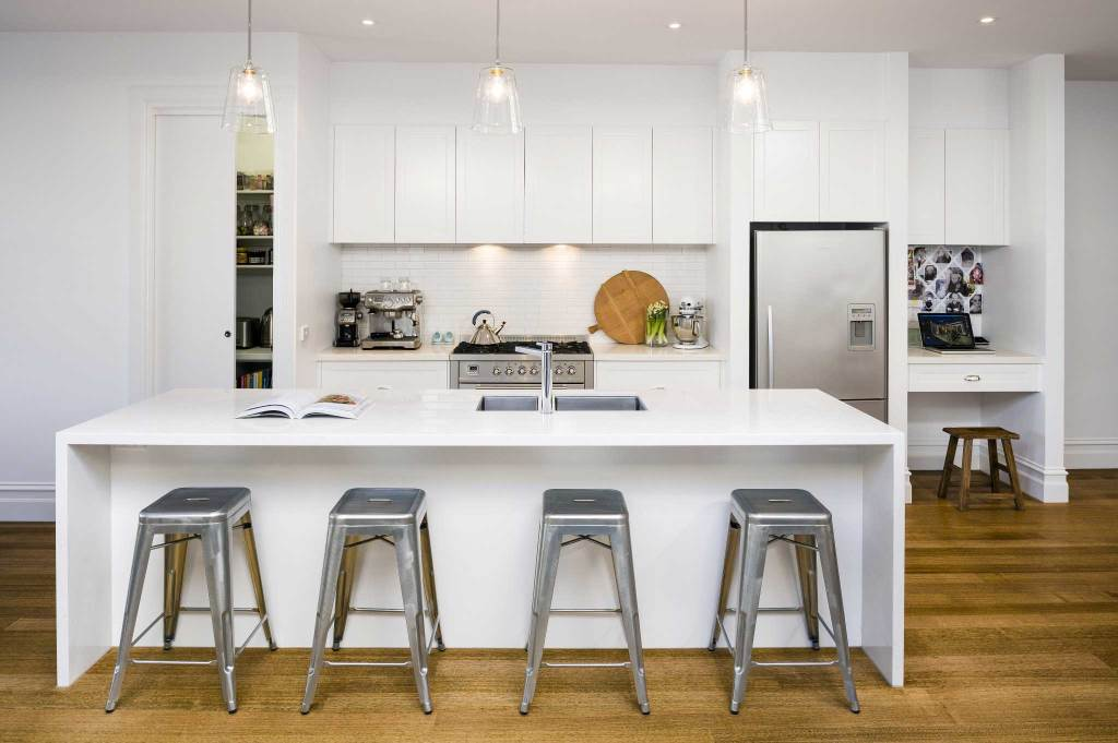 Image of all white kitchen in Armadale