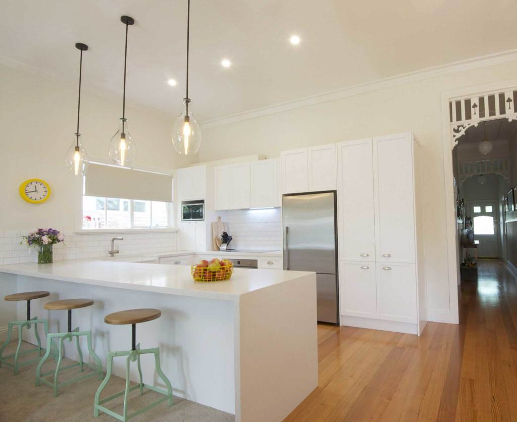 Photo of classic white kitchen in Newport