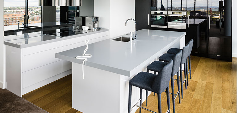 Image of a Solid Surface Staron kitchen benchtop